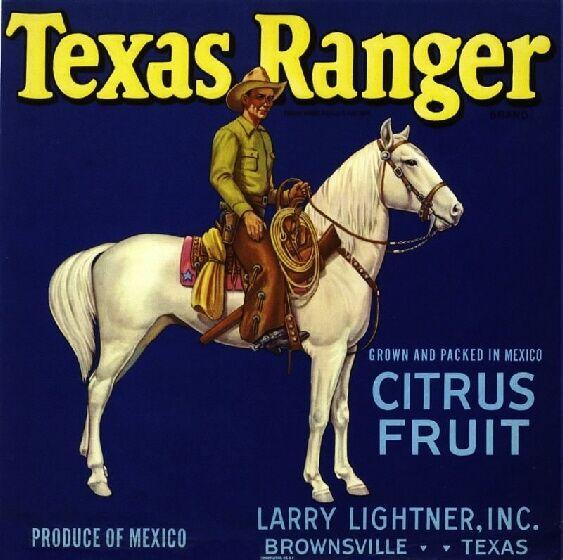 Brownsville Texas Ranger 2 Orange Crate Label Art Print