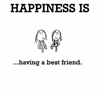 Happiness Is Having a Best Friend Someone to Talk To Share Things Safe