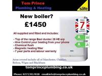 Boilers fitted, local gas engineer, plumber, gas, manchester, combi boilers, cookers, taps,