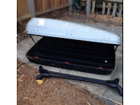 Citroen Picasso Roof Box plus bars (Fixing kit missing, Can be purchased from Halfords)