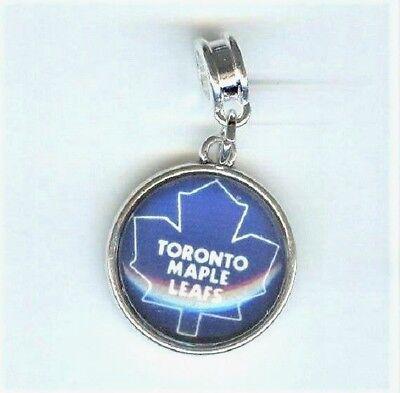 Blue TORONTO MAPLE LEAFS, NHL Hockey Charm fits European Designer (Designer Glasses Toronto)
