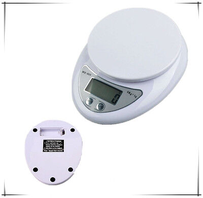 5000g 5Kg x 1g Digital Kitchen Scale Diet Food Compact LCD Kitchen Weight Scale