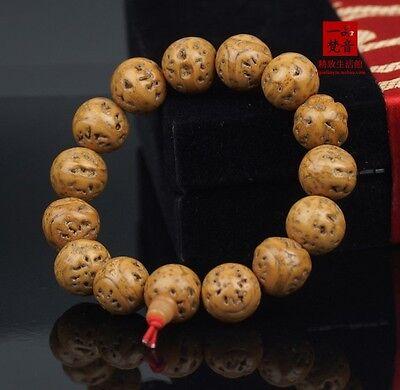 Bodhi Seed Mala (Big Tibetan Meditate 14 15mm Bodhi Seed Meditation Prayer Beads Mala)
