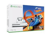**SEALED** XBOX ONE S 1TB & FORZA HORIZON 3 & HOT WHEELS GAMES & 1 MONTH XBOX GAME PASS, BRAND NEW