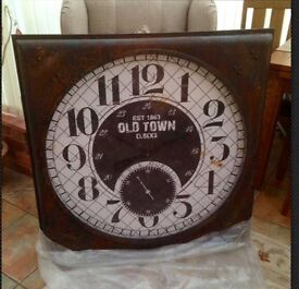 'Old Town' large vintage wall clock