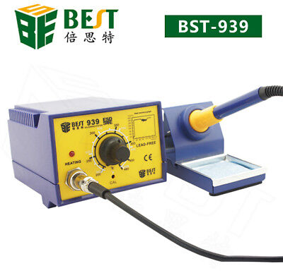 Anti-static Soldering Smd Iron Pen Rework Station With Stand 110v Best Bst-939