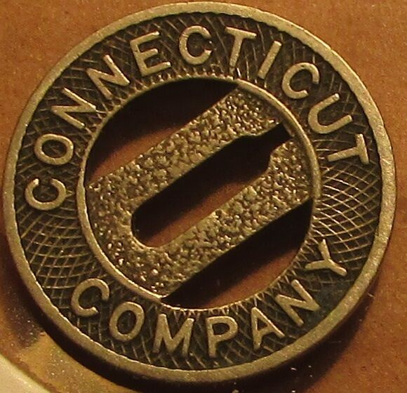1919 Connecticut Company New Haven, CT Transit Trolley Token - Conn.