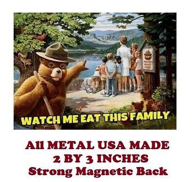 SM141- Humorous Smokey Bear Meme 2 by 3 Inch Metal Refrigerator Magnet