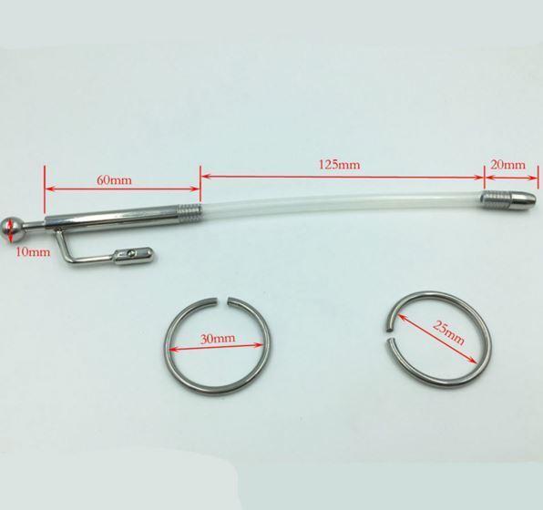 8mm 21cm XXXL Dilator Prinzenzepter Edelstahl kein Silikon Harnröhren - Dehner
