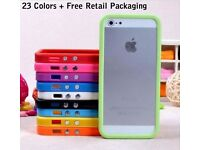 iphone 5/5s/5c soft Rubber TPU Bumper/cover/frame Dual Beautiful colors, screen protector packaging