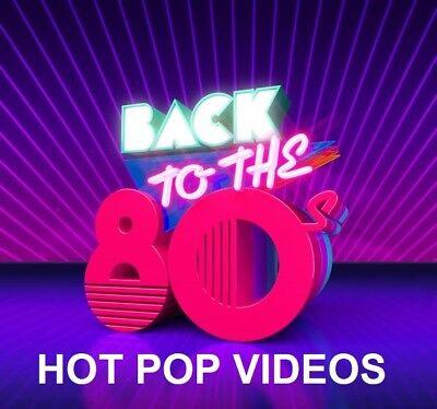 80's POP MUSIC VIDEOS DVD Mr. Mister, Belinda Carlisle, Heart & MORE 50 HOT HITS