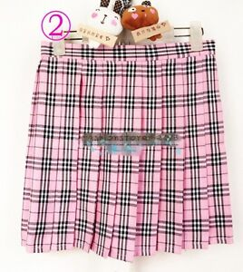 Womens Adult Naughty School Girl Plaid Tartan cosplay uniform Mini Pleated Skirt
