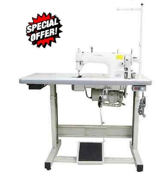 Yamata FY8500 Lockstitch Industrial Sewing Machine New Servo,Lamp,Table DDL8700.
