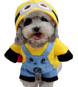 Costume Halloween de Minion pour chien et chat