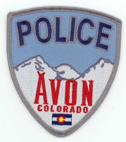 AVON POLICE COLORADO CO COLORFUL PATCH STYLE #1 SHERIFF