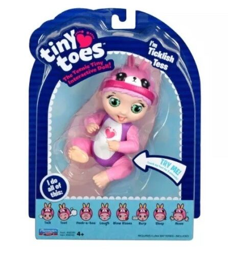 Tiny Toes TICKLISH TESS Baby Moves Pink Bunny New Responds t
