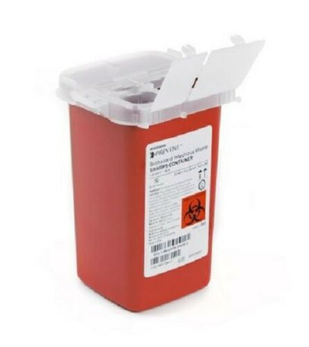 Sharps Container Biohazard Infectious Waste Prevent 1 Quart Needle Disposal