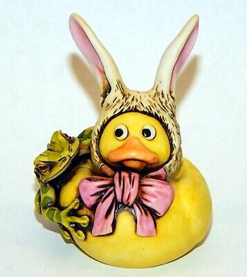 Neil Eyre Designs Easter Bunny rabbit Duck big ears green tree frog hat & bow