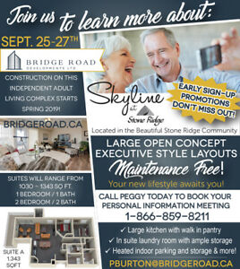 Learn more about Skyline at Stone Ridge! Active Adult Living!