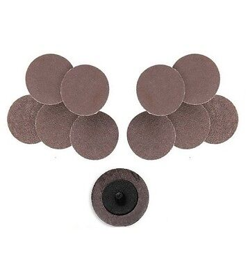 10 Pc 2 Roll Lock Sanding Disc Roloc Type R 24 Grit