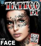 neptatoeage Face Tattoo Lace polyester