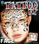 neptatoeage Face Tattoo Cheetah polyester