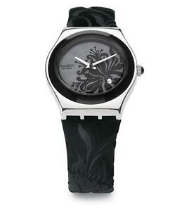 swatch women's  core collection (black flower limited edition Kingston Kingston Area image 2