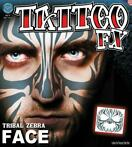 neptatoeage Face Tattoo Tribal Zeebra polyester