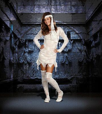 Yo! Mummy Teen Halloween Alluring Junior Costume Party Women Dress Gift LARGE
