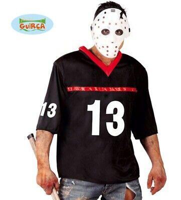 Mens Halloween Crazed Killer Fancy Dress Costume Hockey Killer Outfit - Men's Hockey Kostüm