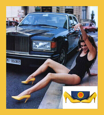 1991 VINTAGE VERSACE ATELIER SHOES as seen on Cindy in Vogue Sz 37 - 7