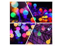Globe Fairy Lights Plug in 120 LEDs , 15M/49ft
