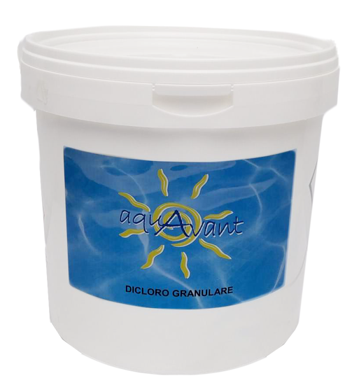 Aquavant Dicloro Granulare 56% Cloro Secchio 10 kg Igienizzante Acqua Piscina