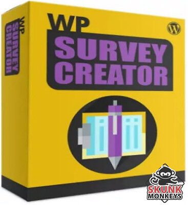 Wp Survey Creator Worpdress Plugin With Master Resell Rights Make Money Online