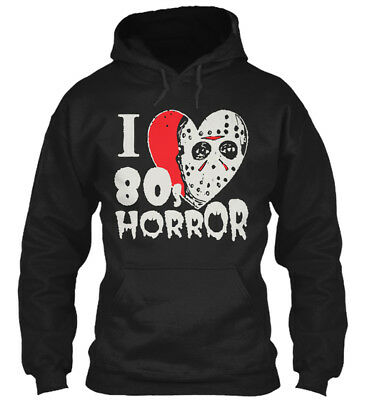 I 80s Horror Halloween Special - Love Gildan Hoodie Sweatshirt (80's Halloween Specials)