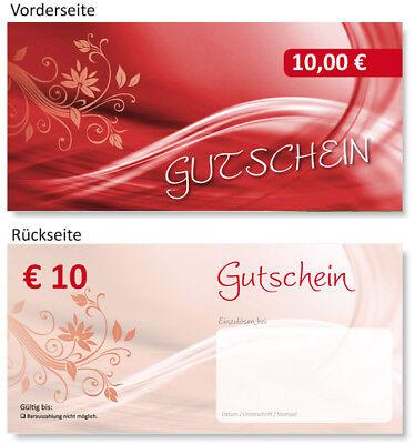 10 x 10 EURO Geschenk Gutscheine Gutscheinkarten TOP
