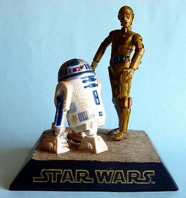 Used, Tomy Star Wars R2 D2 & C3P0 Figures Model Diorama for sale  London
