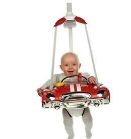 Red Mini Car Doorway Baby Bouncer