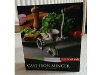 Kitchen Craft Brand New Cast Iron Mincer