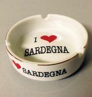 Souvenir Sardegna Portacenere Posacenere In Ceramica Con Dedica -  - ebay.it