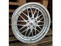 "*BBS* x4 18"" Dare LM Alloy Wheels SML Silver 5x120 8J/9J Bmw 1 2 3 4 5 6 Series"