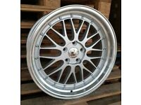 "*BBS* x4 18"" Dare LM Alloy Wheels SML Silver 5x120 8J Bmw 1 2 3 Series"