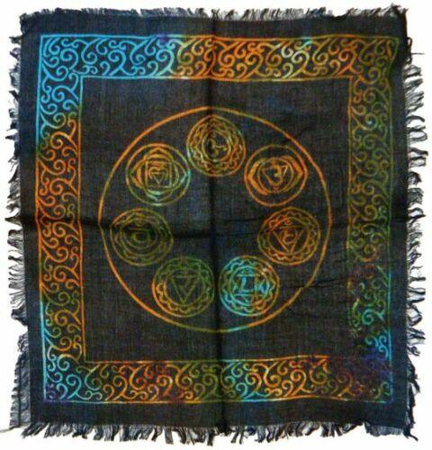 Seven Chakra ALTAR CLOTH 18 x 18 inch ( 7 ) NEW