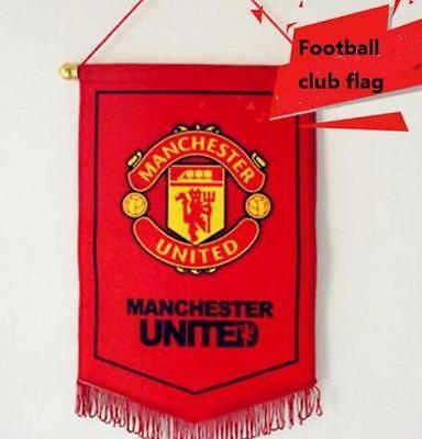 Manchester United flag Logo Us Football Soccer League Team Club Emblem Decor