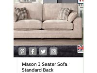 SCS MASON 3 SEATER STANDARD BACK SOFA GOOD CONDITION