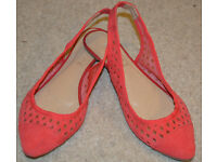 OFFICE flat shoes womens shoes red balerines size UK 5 38 soft and comfortable