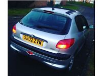 Peugeot 206 8Month Mot 12Month tax very lovely lady owner