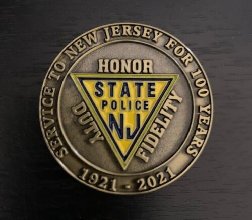 New Jersey State Police-100 year anniversary Challenge Coin
