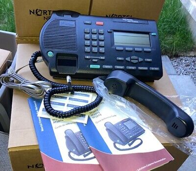 Nortel Avaya M3903 Enhanced Business Telephone - Charcoal Black Meridian New