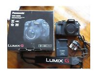 Panasonic g80 mirrorless camera, BODY ONLY, boxed excellent condition